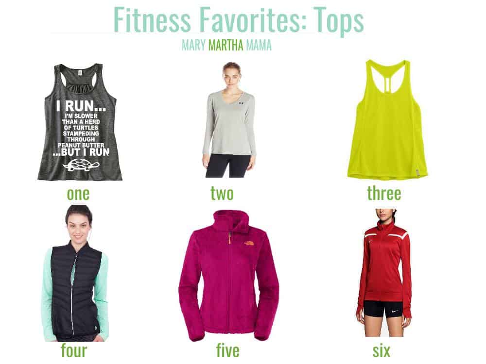 fitness friday tops