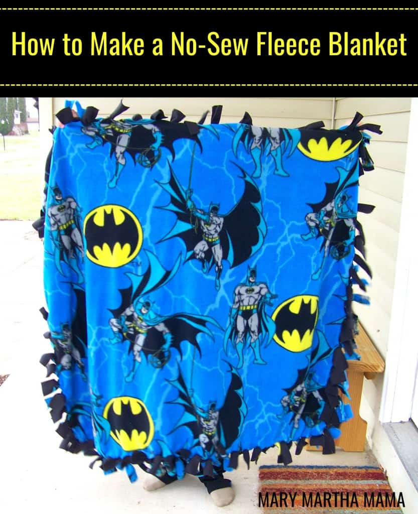 how to make a no sew fleece blanket pin