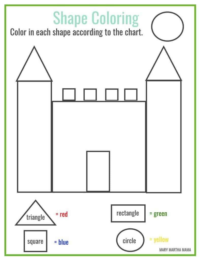 Shapes Worksheets For Preschool Free Printables Mary
