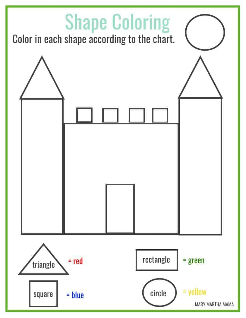 - Shapes Worksheets For Preschool [Free Printables] – Mary Martha Mama