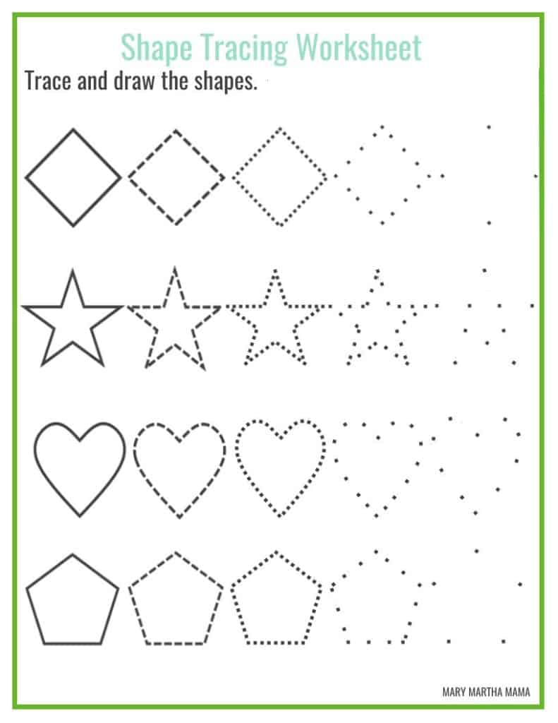 Drawing With Lines And Shapes : Shapes worksheets for preschool free printables mary
