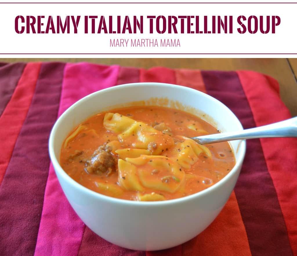 creamy italian tortelini soup