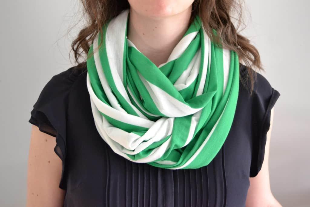 diy infinity nursing scarf 8