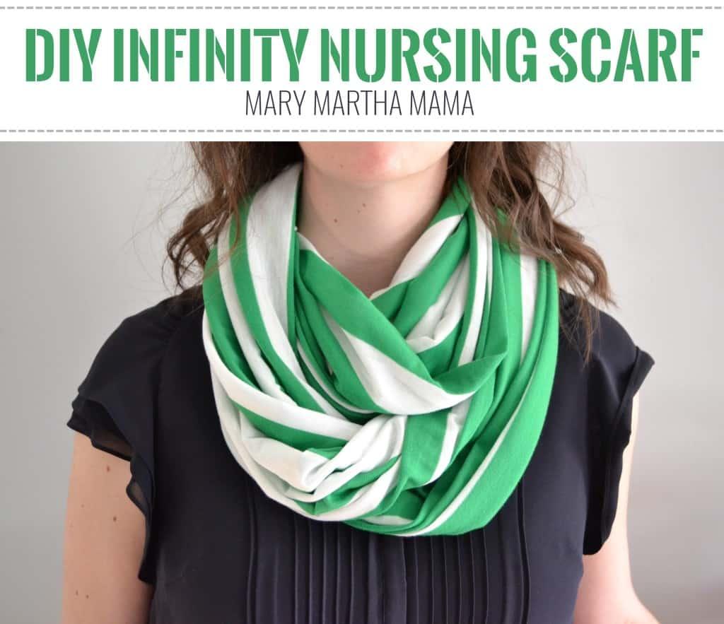 diy infinity nursing scarf 8 pin