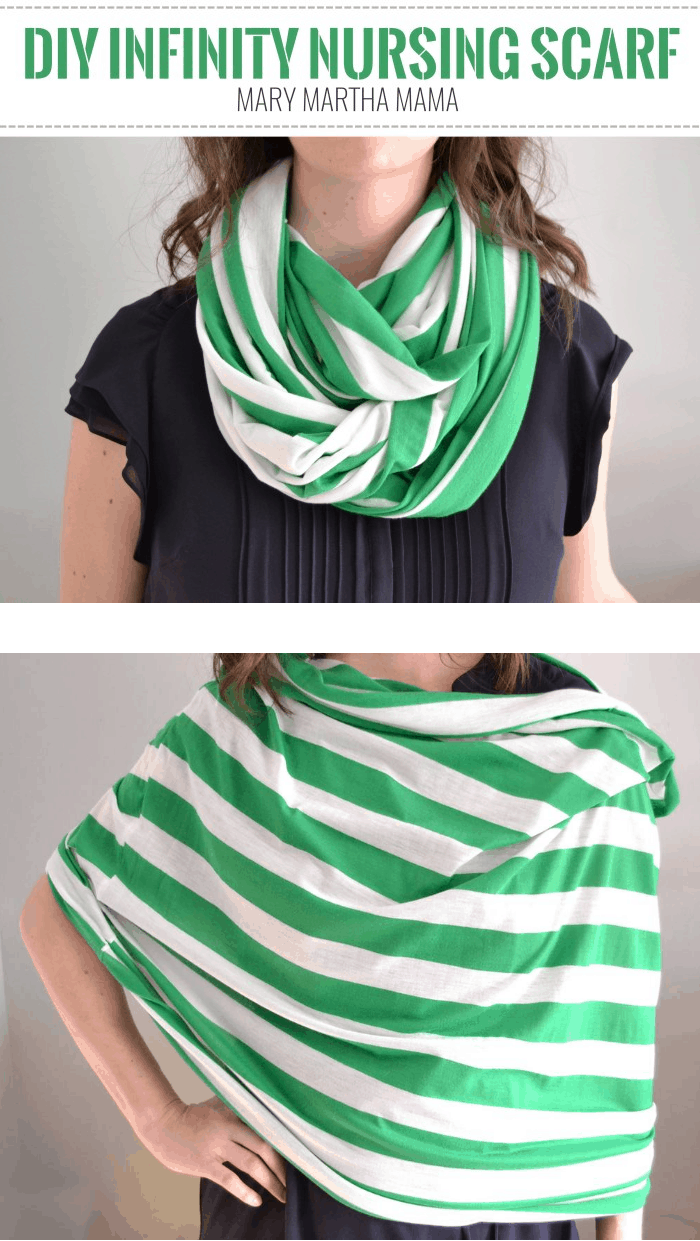 Diy Infinity Nursing Scarf Tutorial Mary Martha Mama