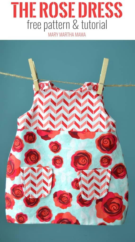 rose dress pin