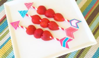 Cupid's Arrow Fruit Kabobs