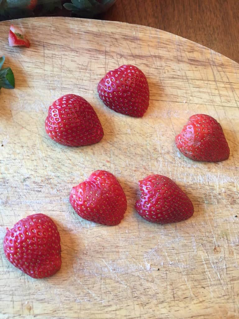 valentine fruit kabob