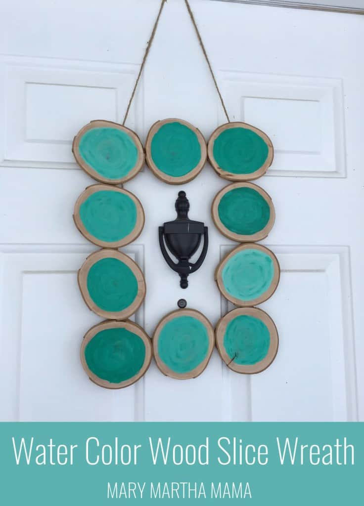 wood slice wreath pin