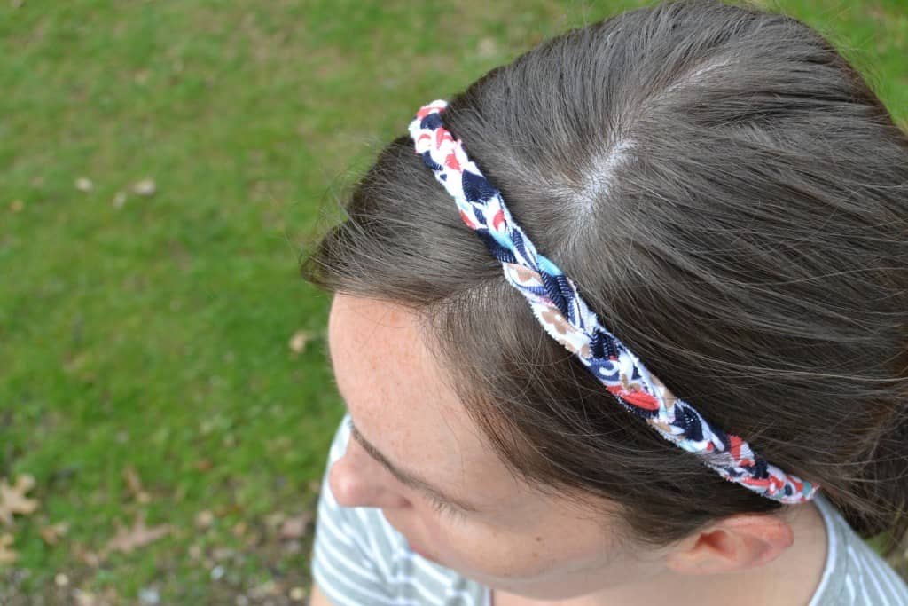 braided headband tutorial 9