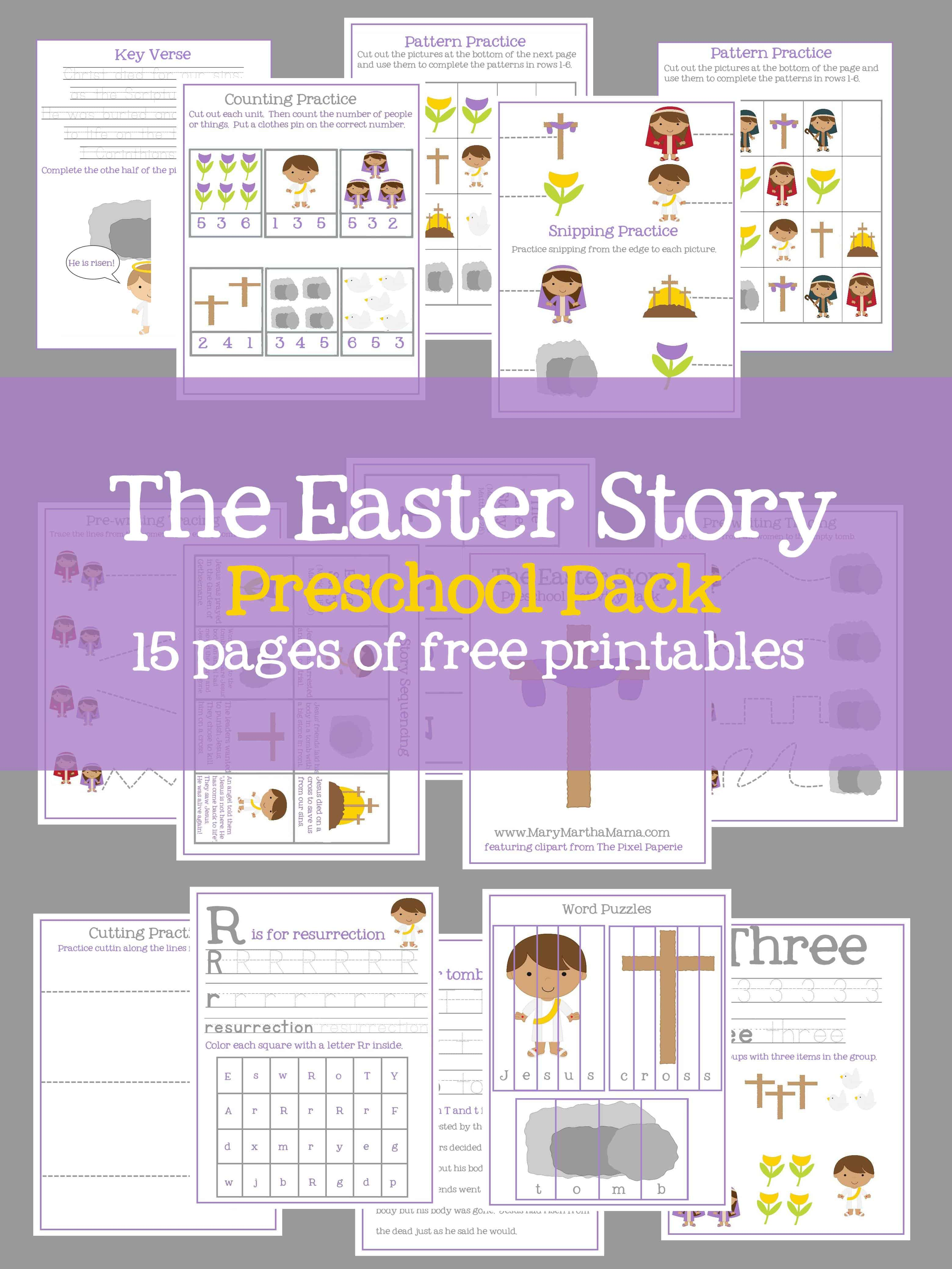 Easter Preschool Pack of Printables – Mary Martha Mama