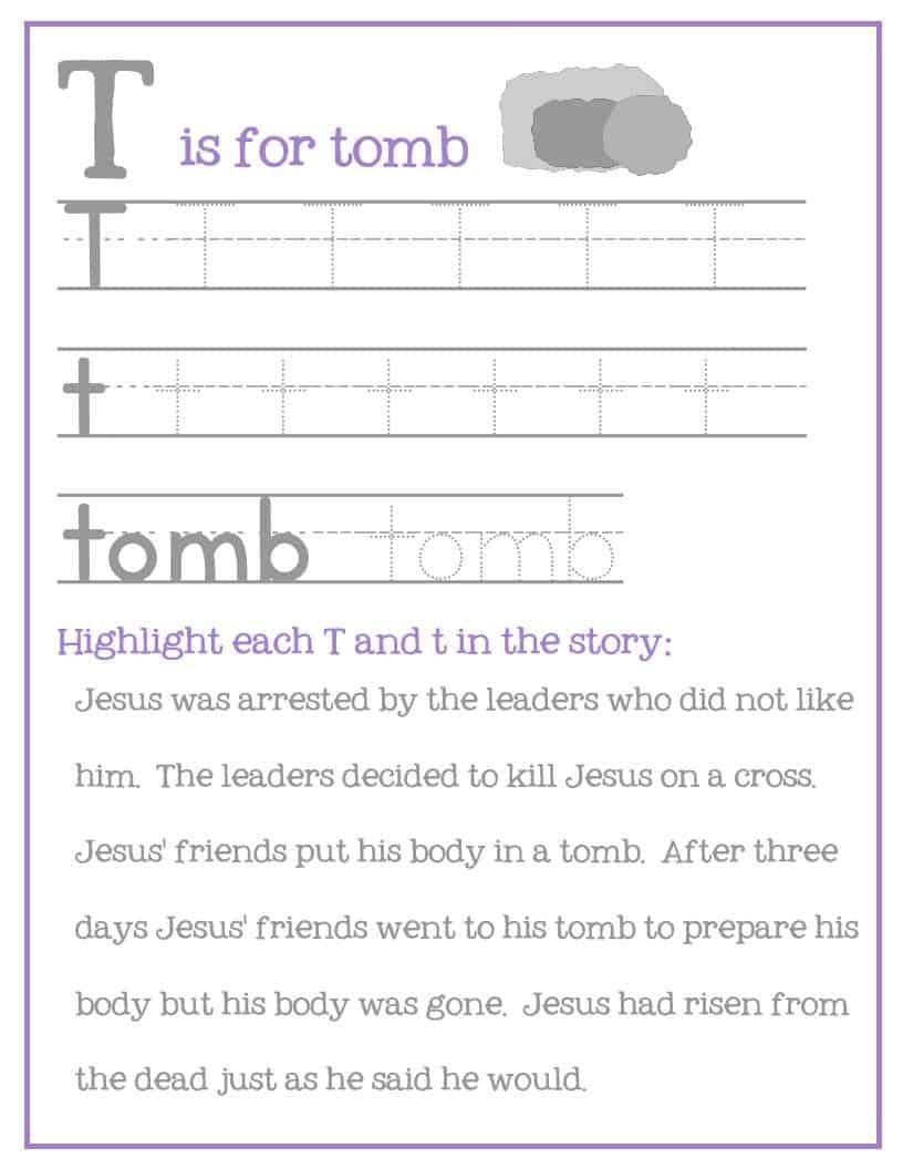Easter Preschool Pack of Printables