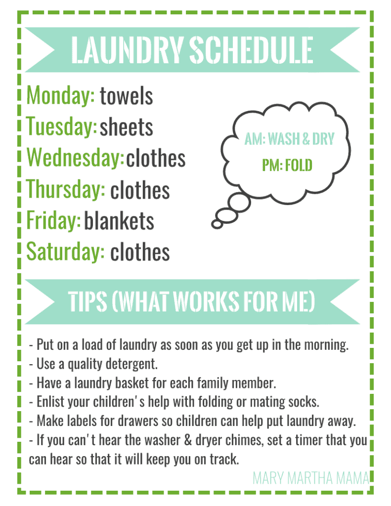 How To Conquer The Laundry Pile With A Free Printable