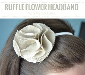 ruffle flower headband pin