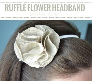 ruffle flower headband pin