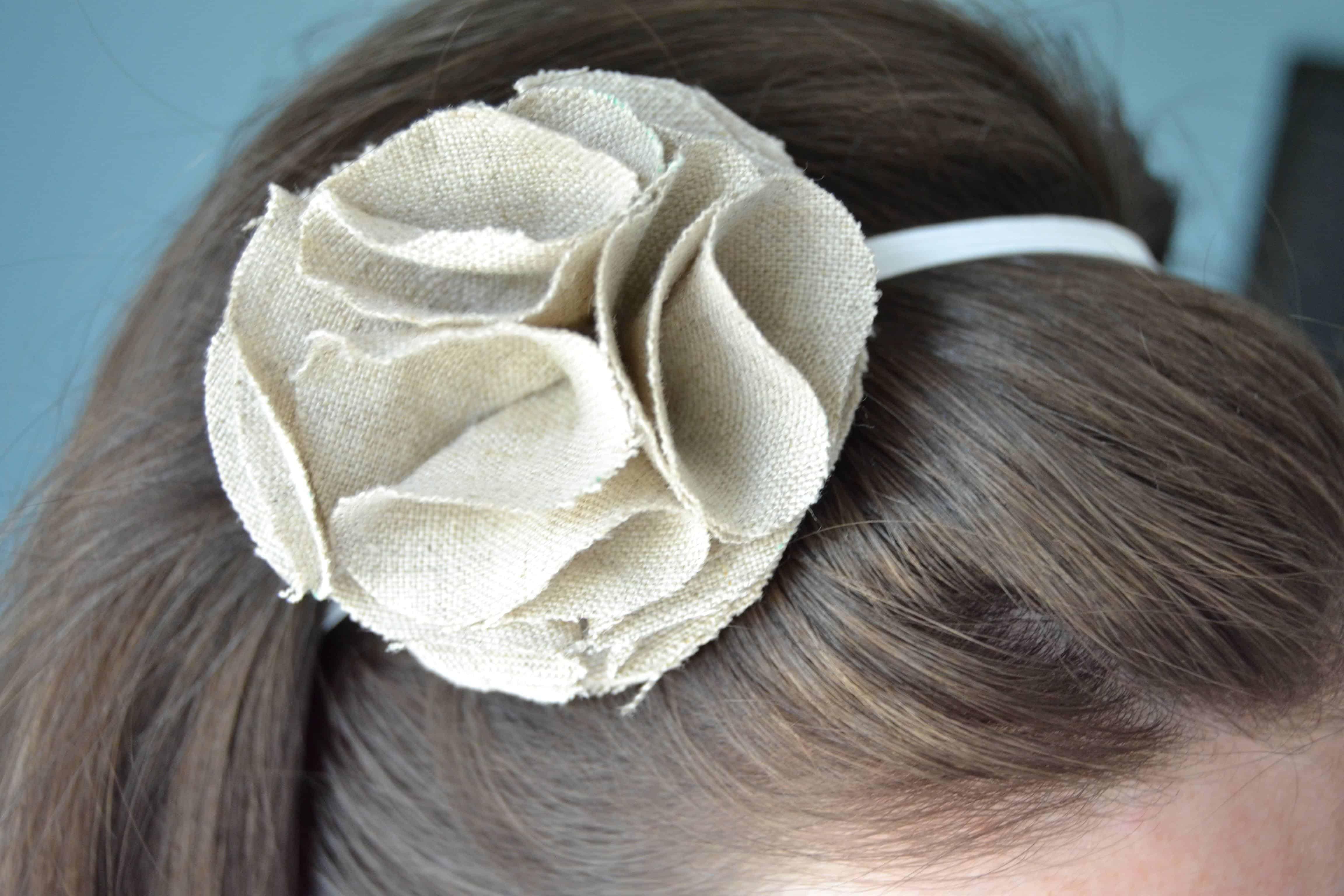 ruffle flower headband