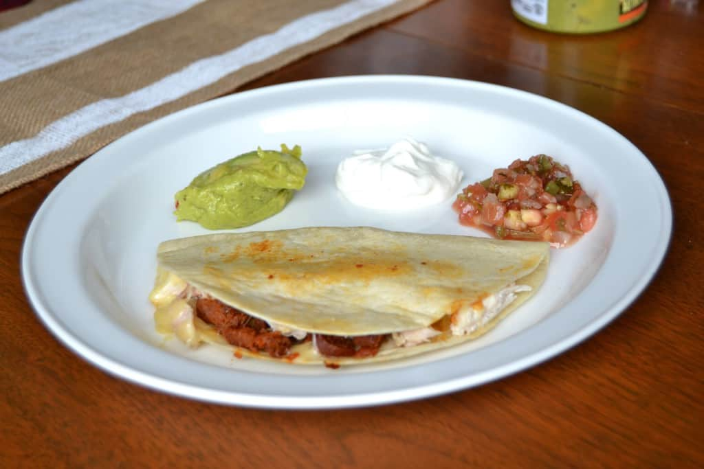 chicken chorizo quesadillas 6