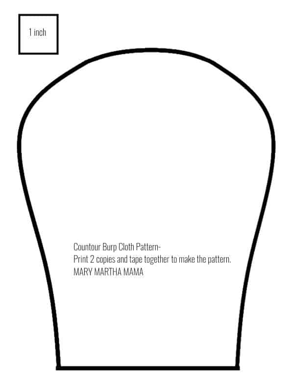 contour burp cloth pattern 2