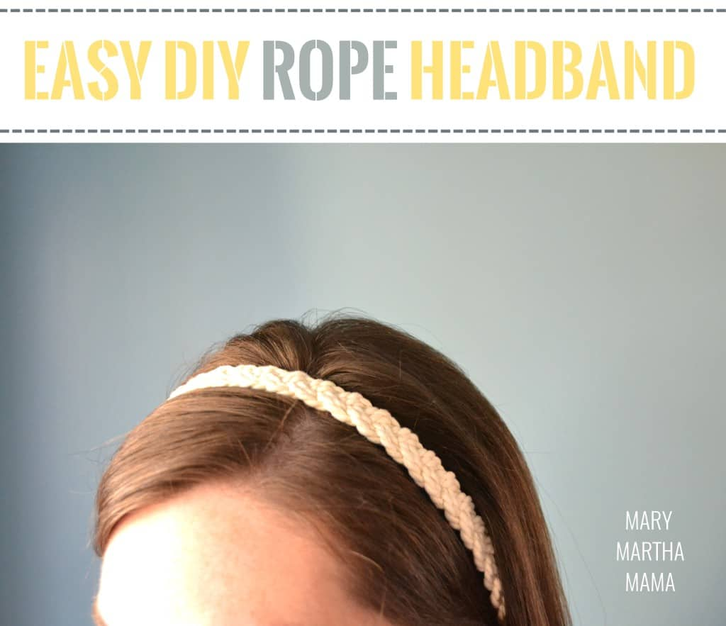 easy diy rope headband 2 pin