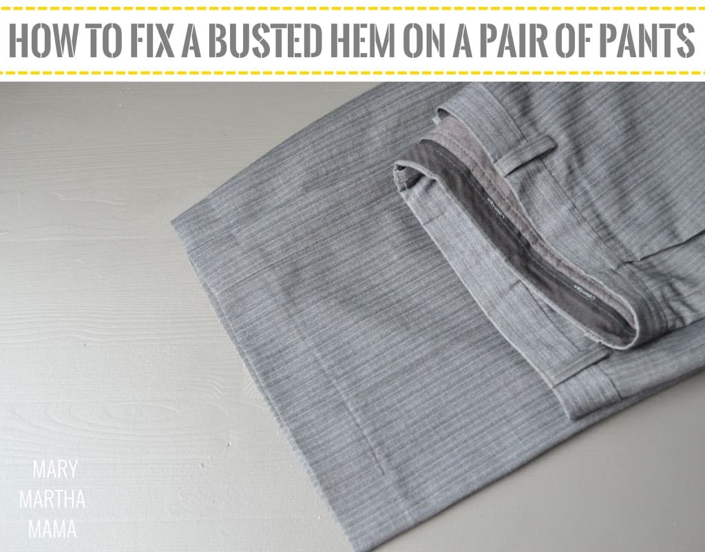 how to fix a busted hem 8 pin