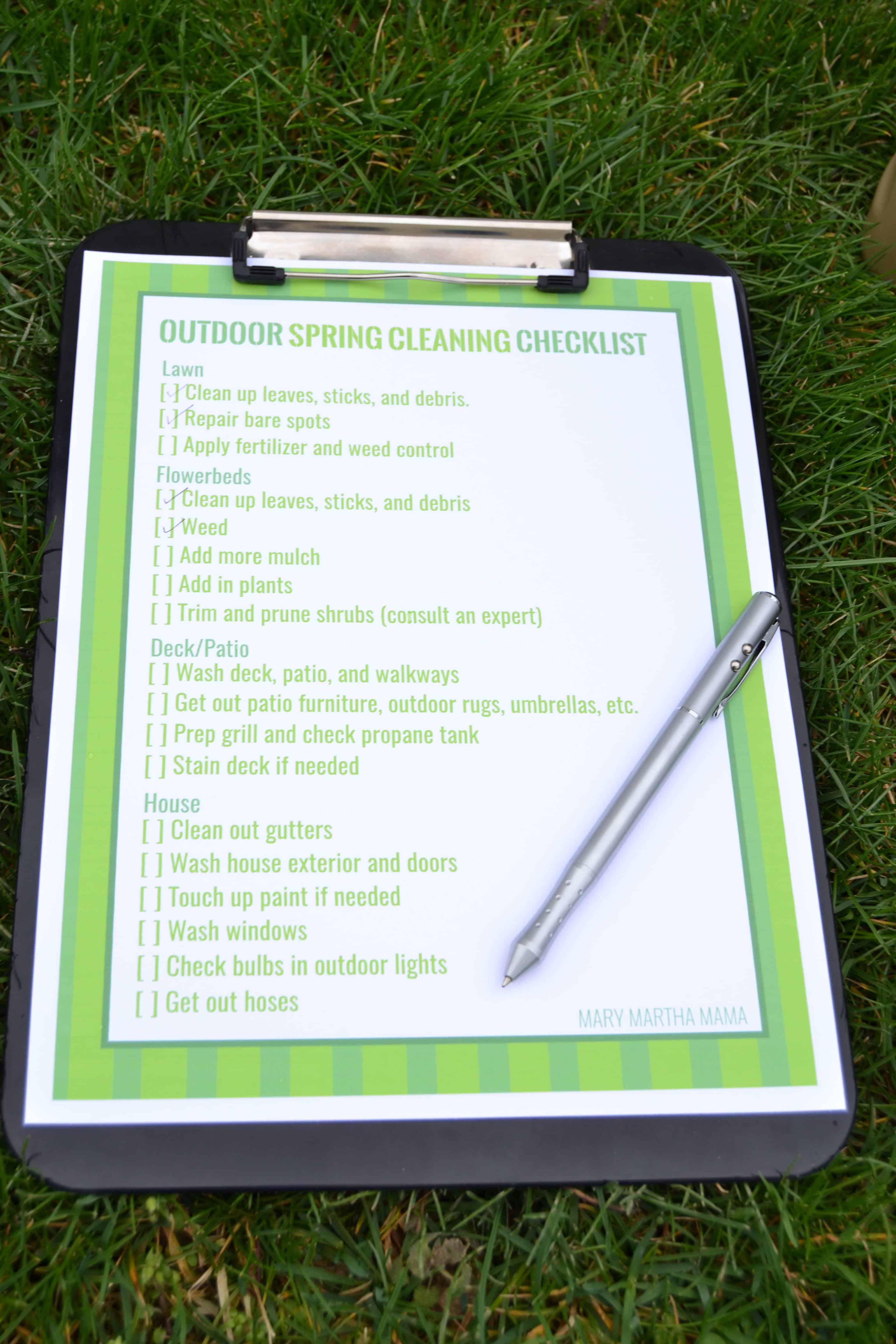 Operation Spring Spruce Up [Outdoor Spring Cleaning Checklist]