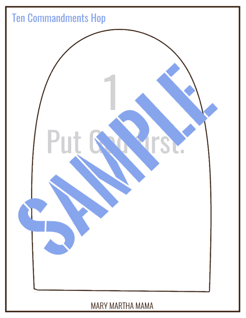 sample ten commandments hop 2
