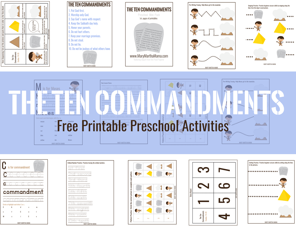 ten commandments mini pack pin