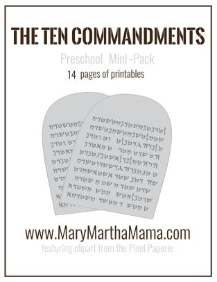 ten commandments pack cover mini