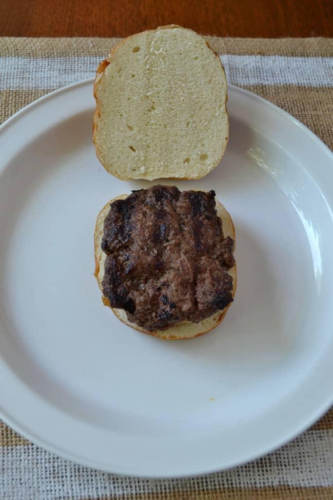 cheesy pretzel burger 4