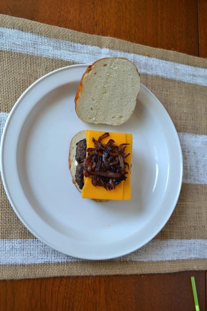 cheesy pretzel burger 7