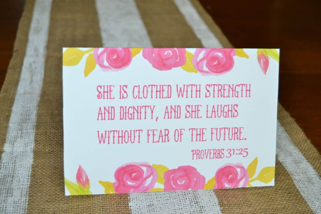 Printable Mother S Day Card Proverbs 31 25 Mary Martha