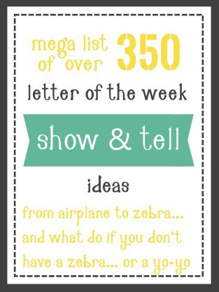 show and tell letter of the week ideas