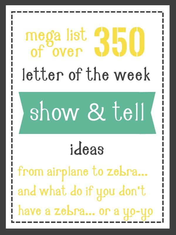 Show and Tell Ideas: Huge List of 400+ Ideas for A Z – Mary Martha