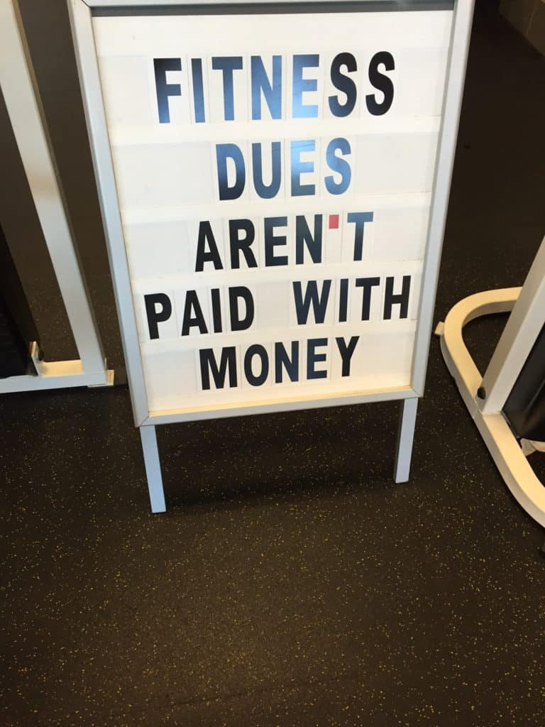 fitness dues quote