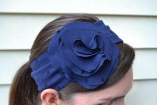 floppy flower headband
