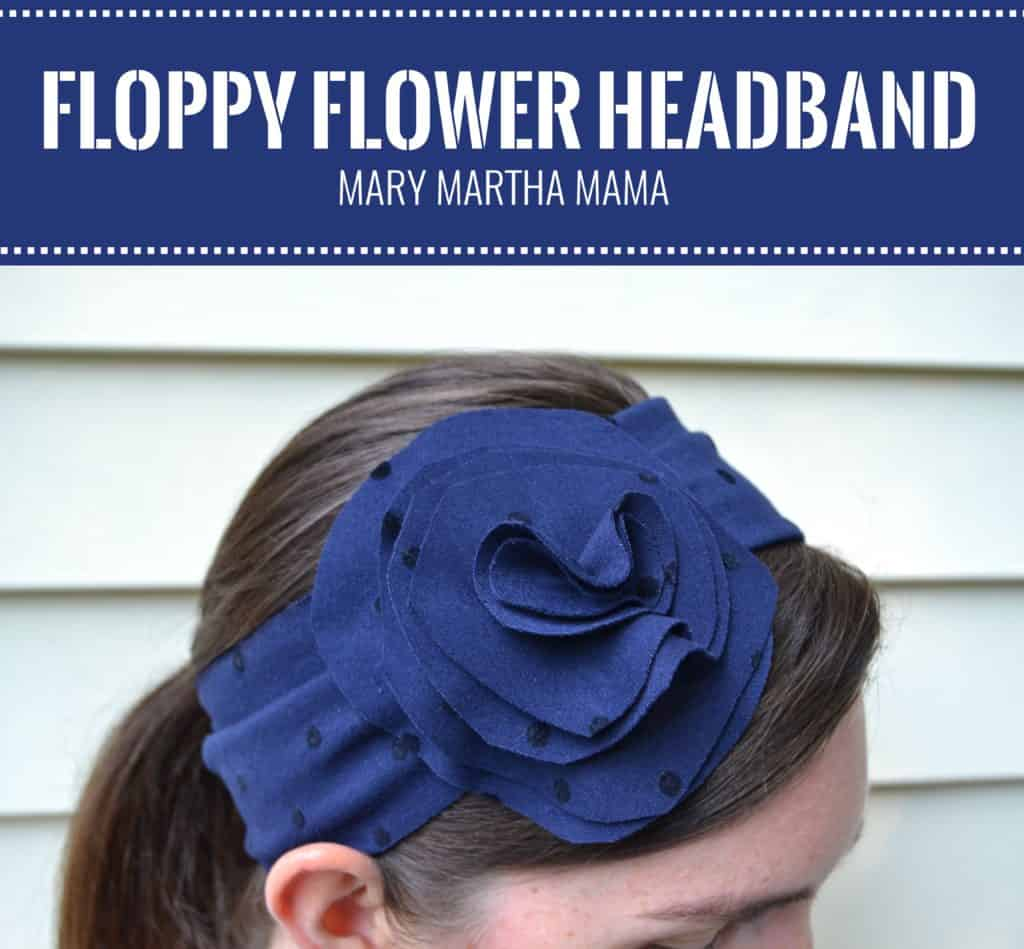 floppy flower headband pin