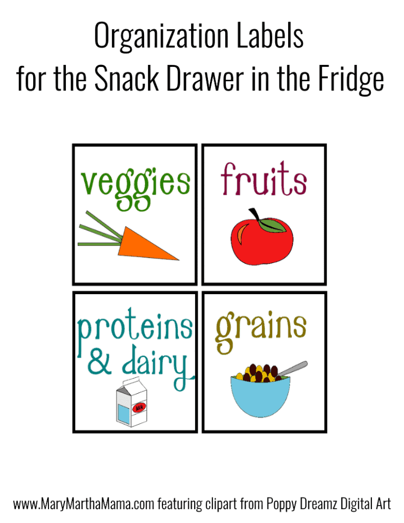 fridge organization labels