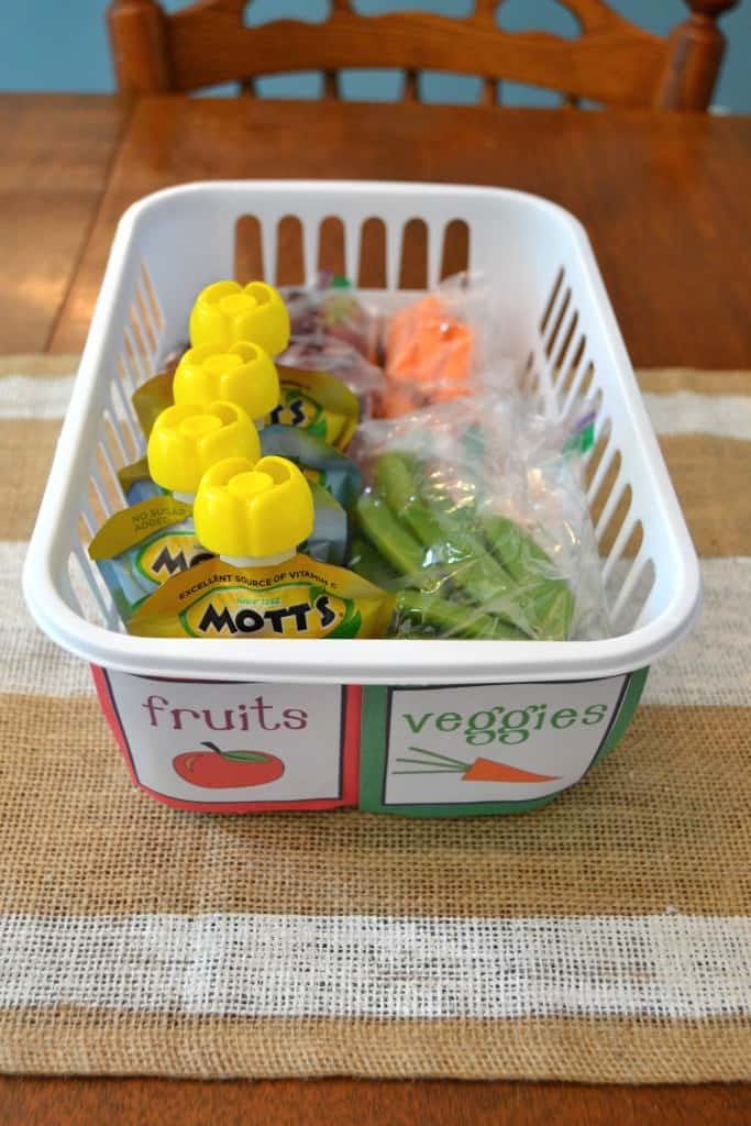 kids snack organization fridge 2