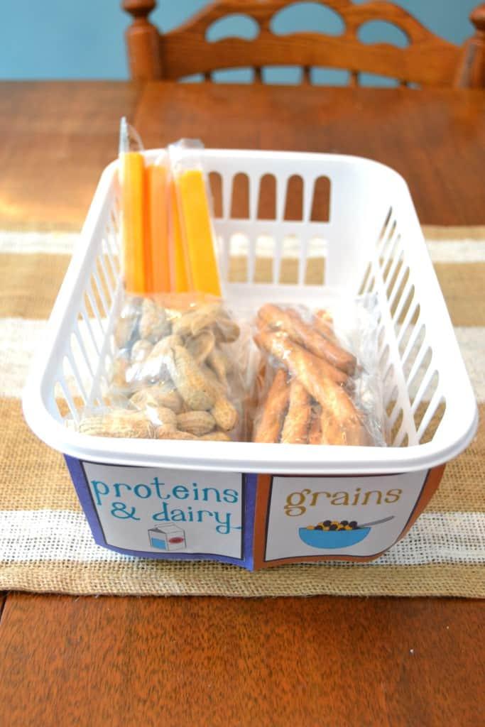 kids snack organization fridge 3