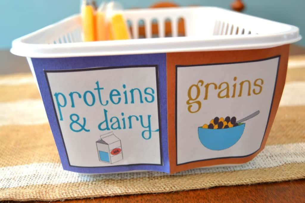 kids snack organization fridge 4
