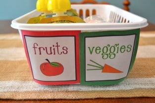 kids snack organization fridge 5