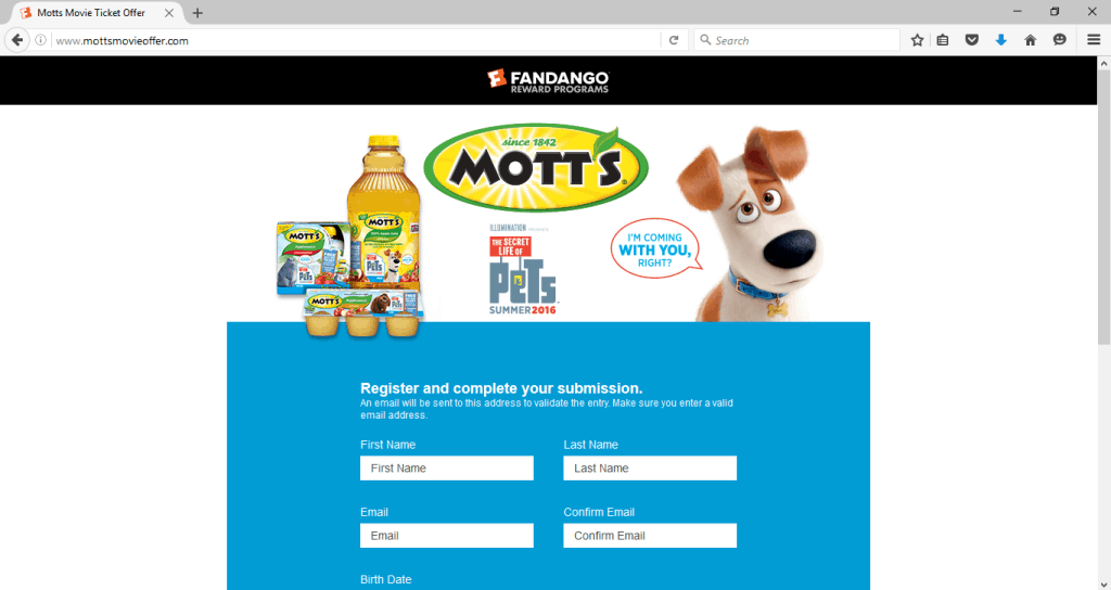 motts movie offer
