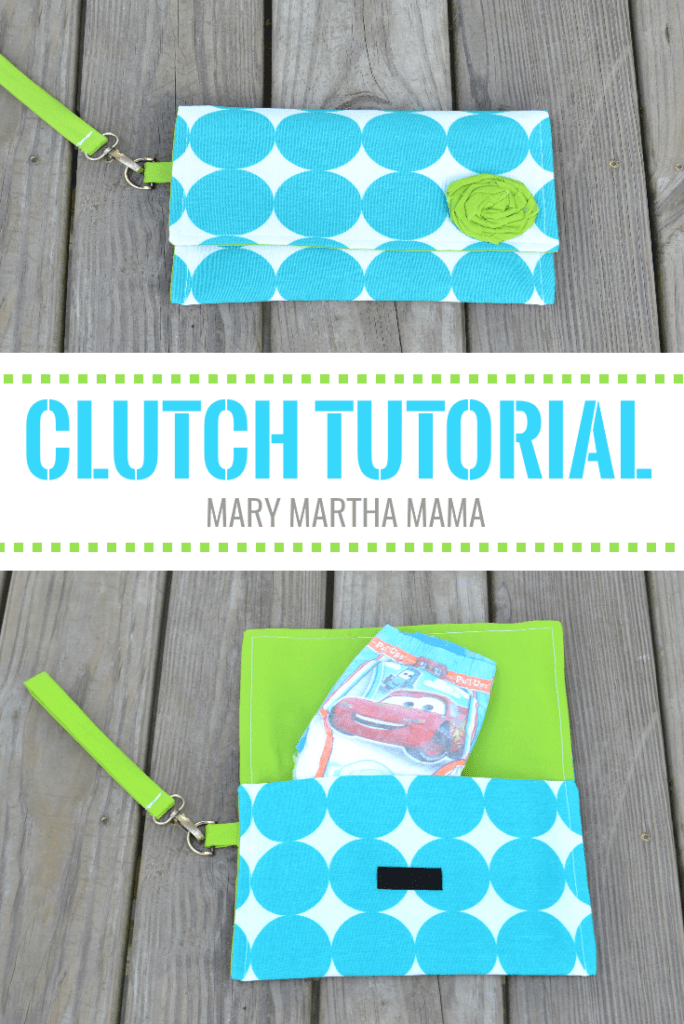 wristlet clutch tutorial pin