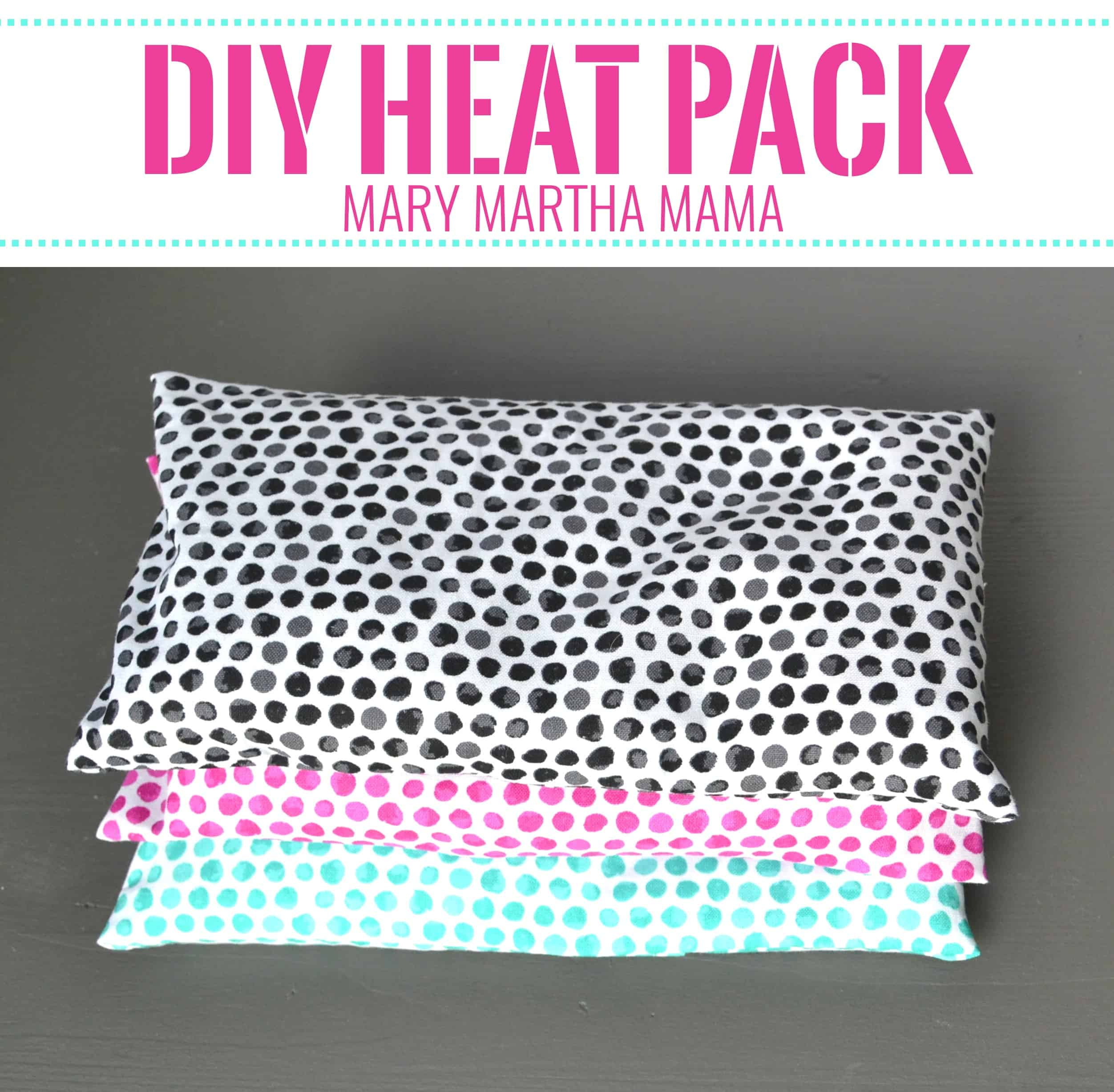 diy rice heat pack tutorial 2 pin