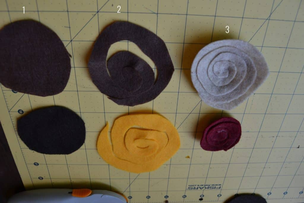 diy spiral felt flower headband