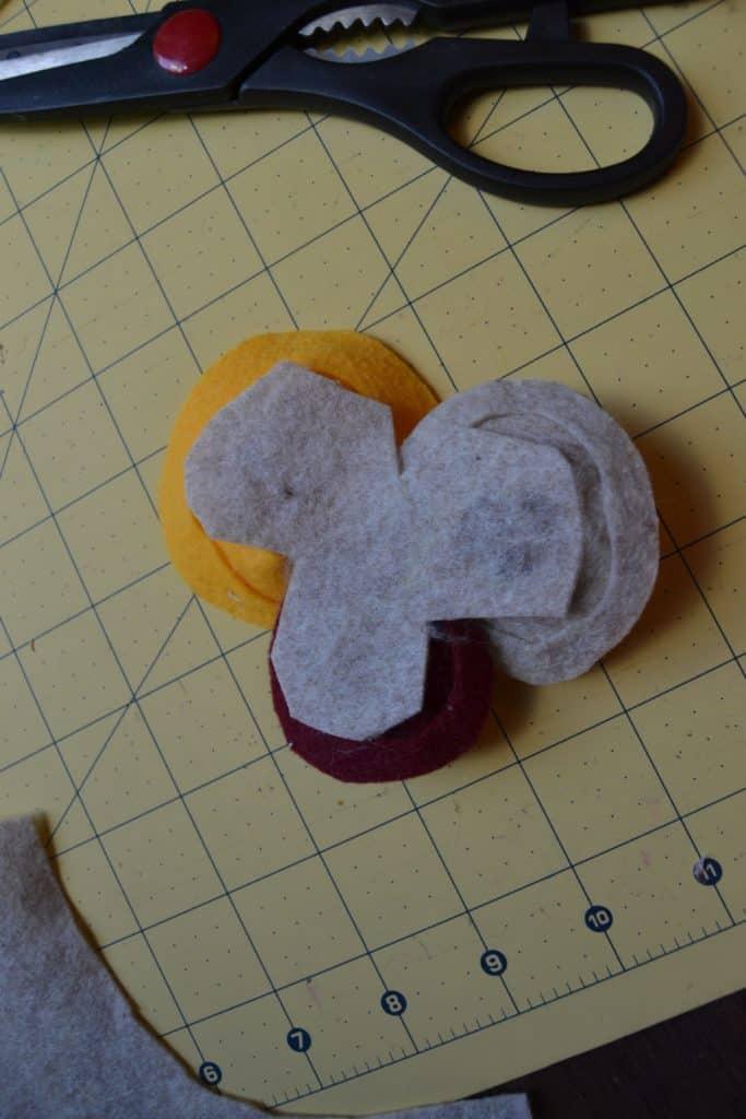 diy spiral felt flower headband 6