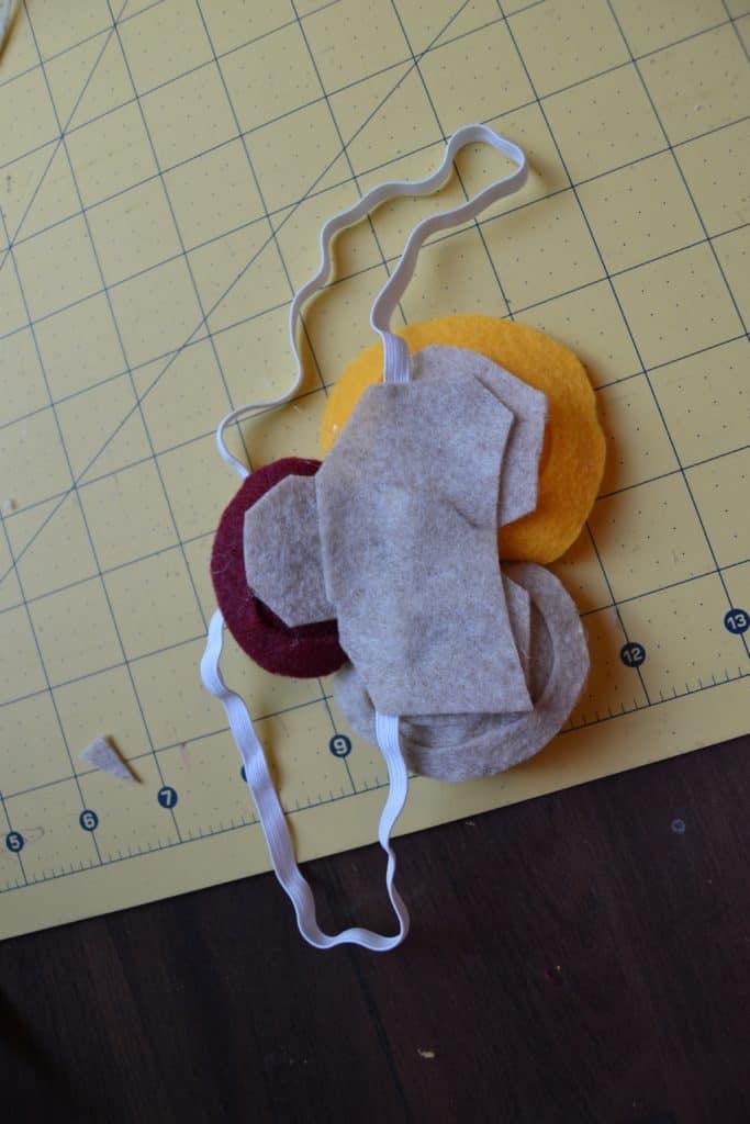 diy spiral felt flower headband 7