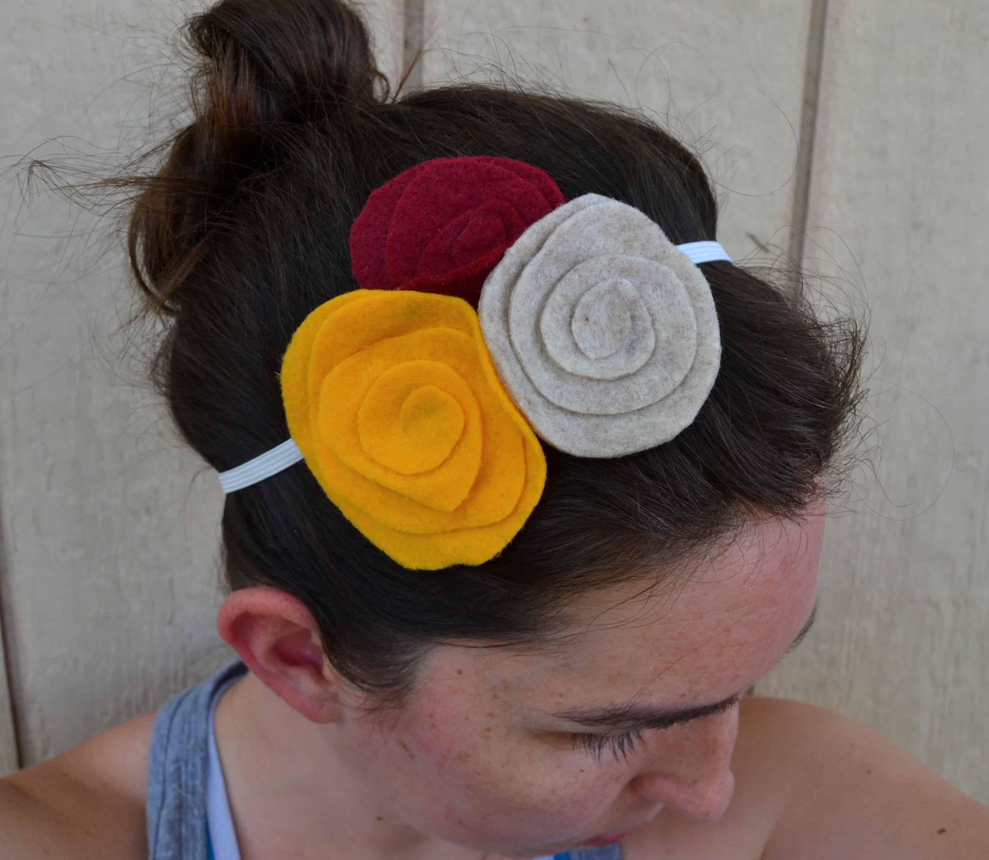 DIY Spiral Flower Headband