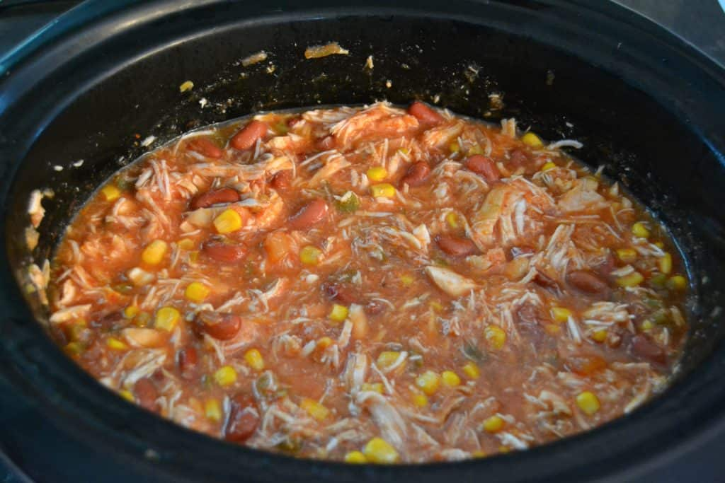 easy slow cooker chicken tortilla soup 6