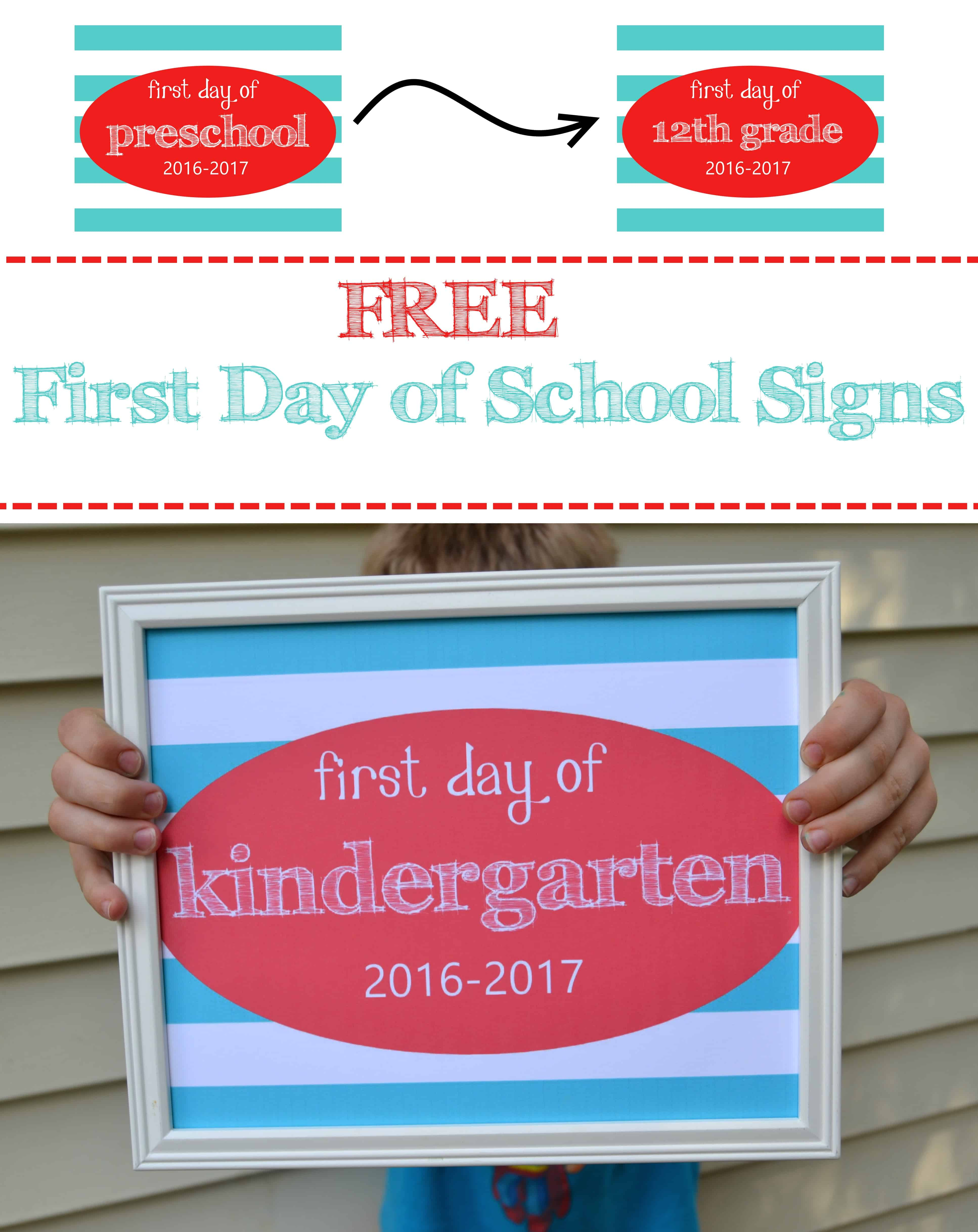 first day of school 2016 sign pic pin